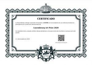 Certificado Luxemburg  2020